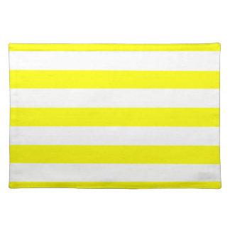 Electric Yellow Horizontal Stripes Placemat