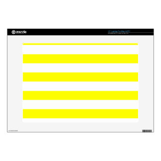 Electric Yellow Horizontal Stripes Skin For Laptop