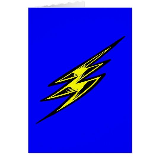 Electric Yellow Lightning Bolt Card