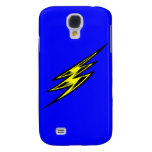 Electric Yellow Lightning Bolt Samsung Galaxy S4 Cases