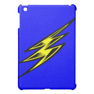 Electric Yellow Lightning Bolt iPad Mini Covers