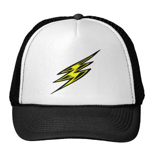 Electric Yellow Lightning Bolt Mesh Hat