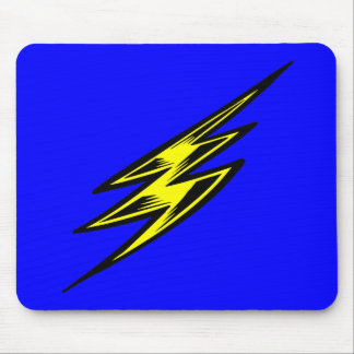 Electric Yellow Lightning Bolt Mouse Pad