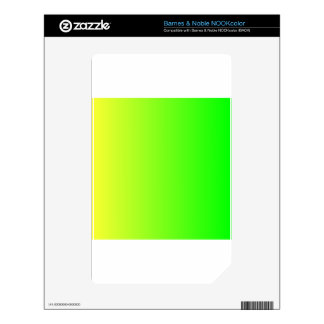 Electric Yellow to Electric Green VerticalGradient Decal For The NOOK Color