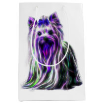 Electric Yorkie Medium Gift Bag