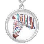 Electric Zebra Necklace