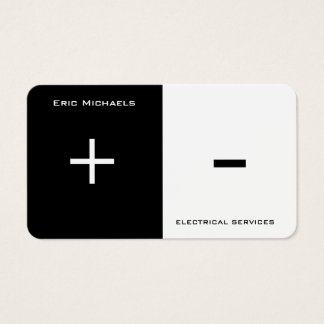 Electrical art two side split business card