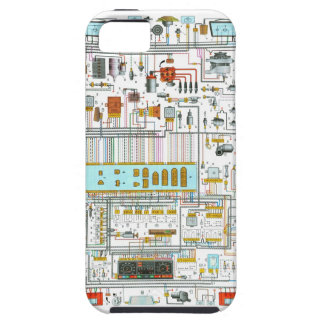 Electrical circuit iPhone SE/5/5s case