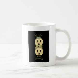 Electrical contractor outlet electricians business coffee mug