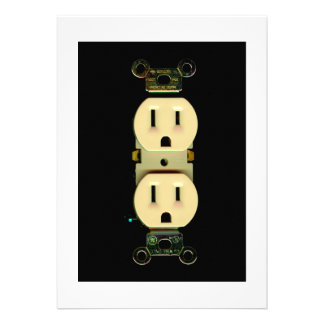 Electrical contractor outlet electricians business invitations