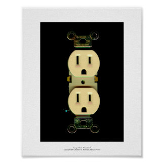 Electrical contractor outlet electricians business poster