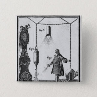 Electrical discharge of bodies pinback button