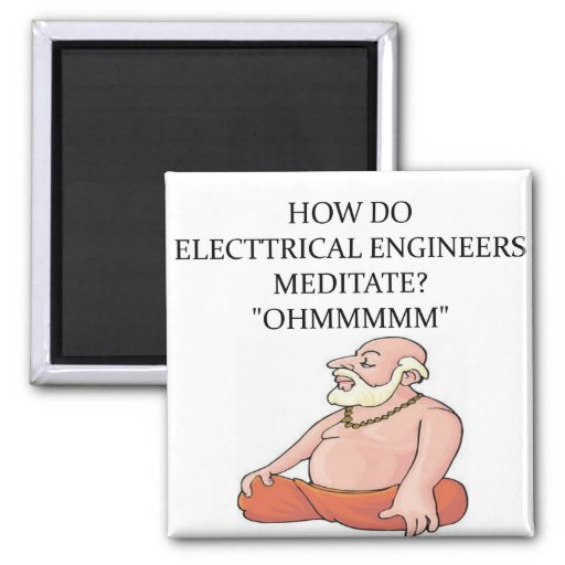 ELECTRICAL engineer 2 Inch Square Magnet