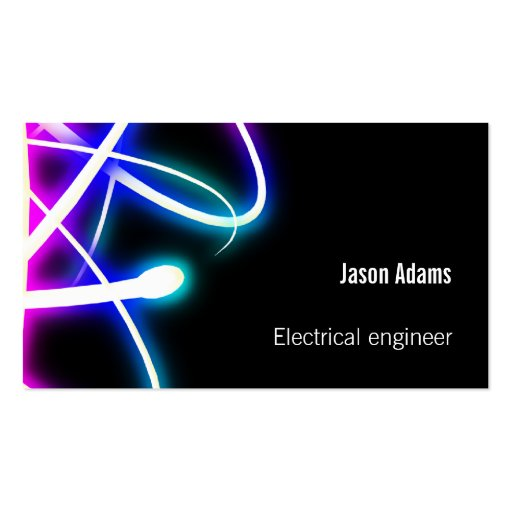 Electrical engineer business card for Electrical engineer business card