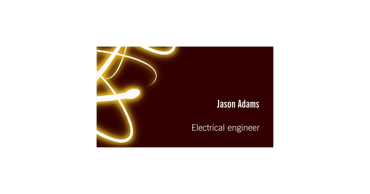 Electrical Engineers Consulting Business Cards : Electrical engineer business card zazzle