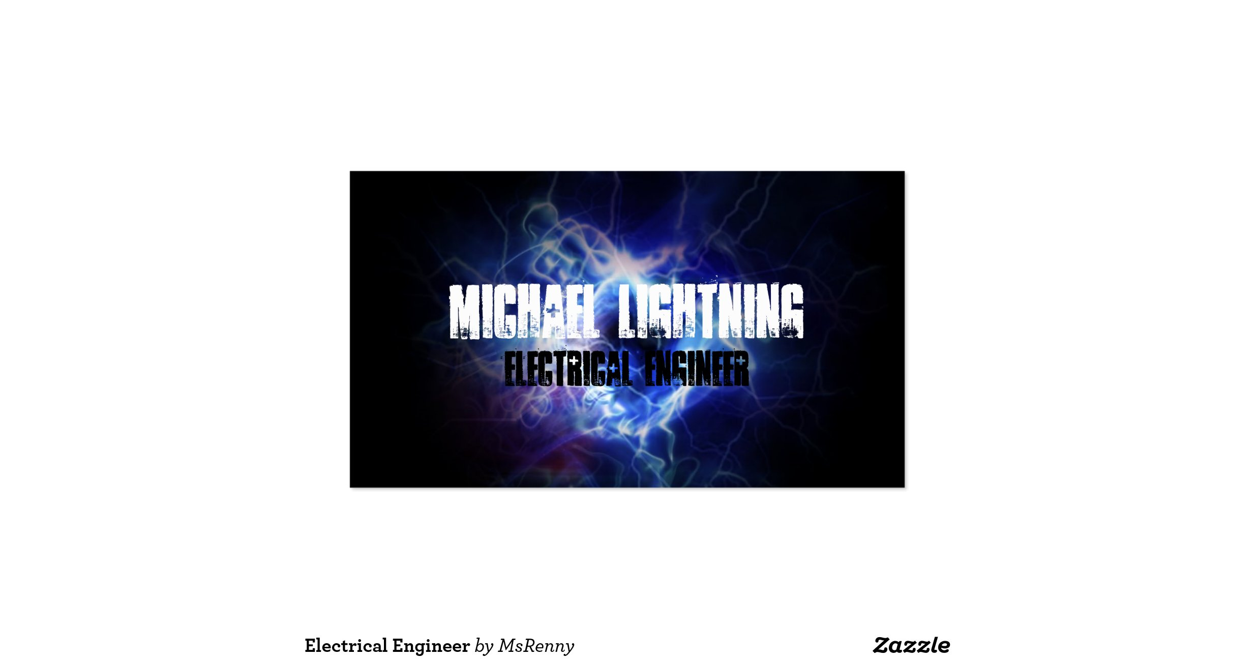 Electrical engineer double sided standard business cards for Electrical engineer business card
