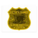 Electrical Engineer Caffeine Addiction League Postcard