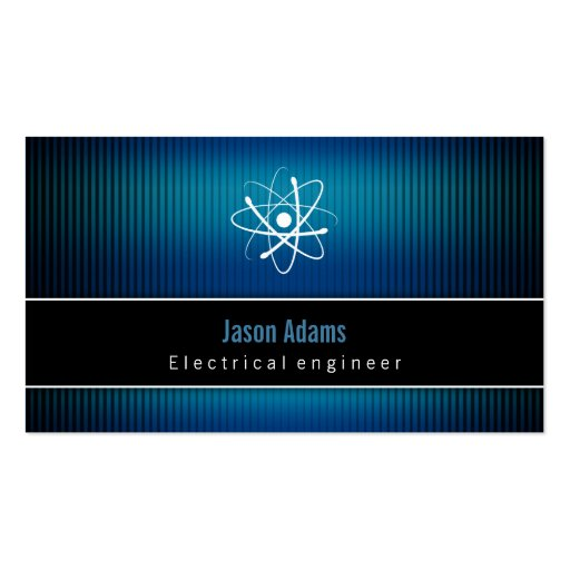 Electrical engineer construction business card zazzle for Electrical engineer business card