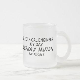 Electrical Engineer Deadly Ninja Frosted Glass Coffee Mug