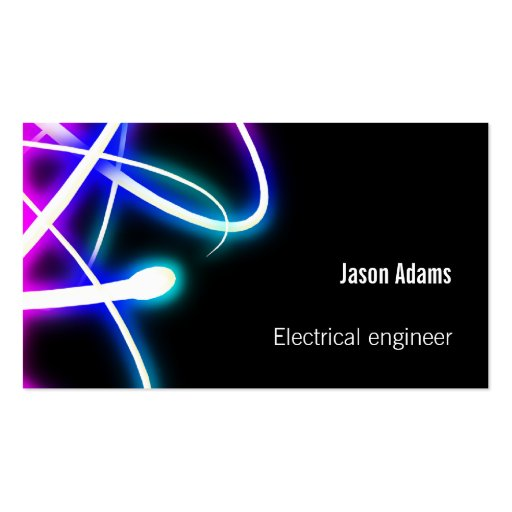 Electrical Engineers Consulting Business Cards : Electrical engineer professional business card zazzle
