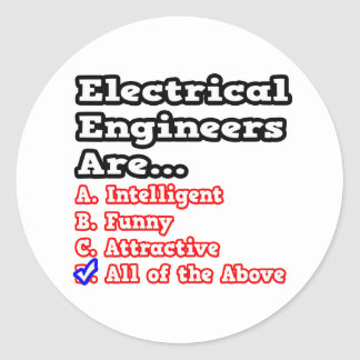 Electrical Engineer Quiz...Joke Stickers
