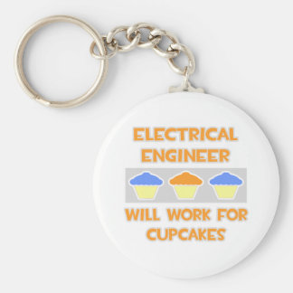 Electrical Engineer... Will Work For Cupcakes Basic Round Button Keychain