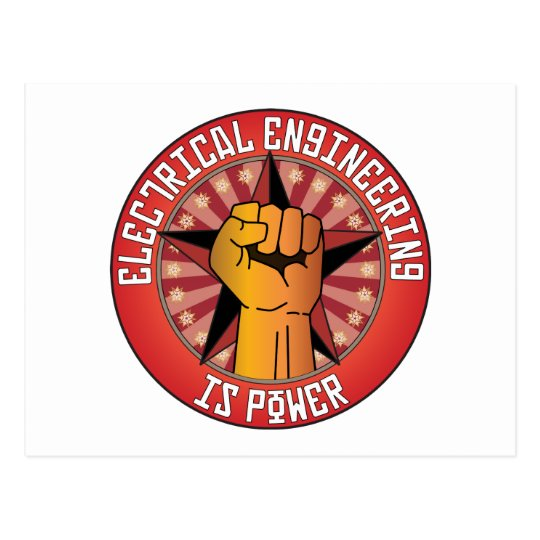 Electrical Engineering Is Power Postcard