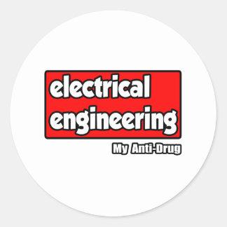 Electrical Engineering...My Anti-Drug Classic Round Sticker