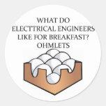 ELECTRICAL engineering Round Sticker