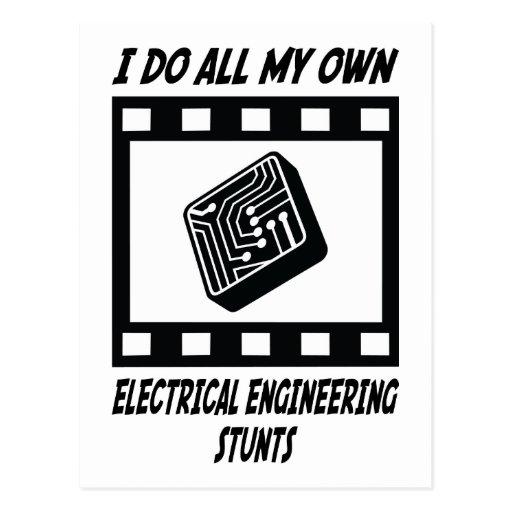 Electrical Engineering Stunts Postcards