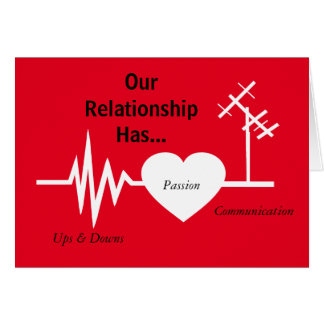 Electrical Frequency Love Passion Greeting Card