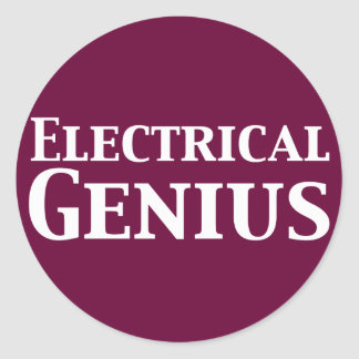 Electrical Genius Gifts Classic Round Sticker