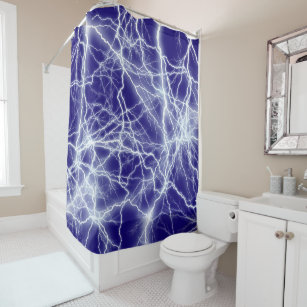 Electrical Lightning Sparks Shower Curtain