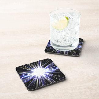 Electrical Lightning Star Burst Beverage Coaster