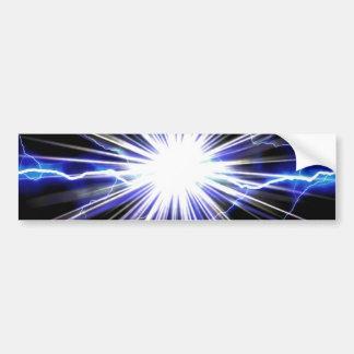 Electrical Lightning Star Burst Bumper Sticker