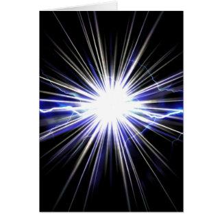 Electrical Lightning Star Burst Card