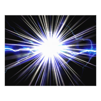 Electrical Lightning Star Burst Flyer