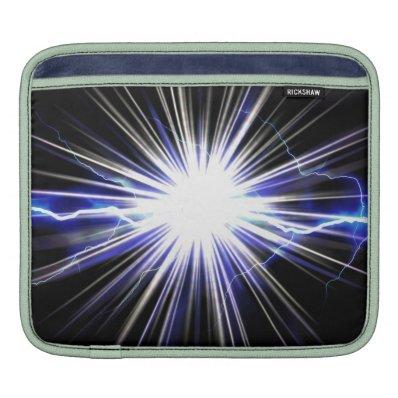 Electrical Lightning Star Burst iPad Sleeves