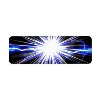 Electrical Lightning Star Burst Label