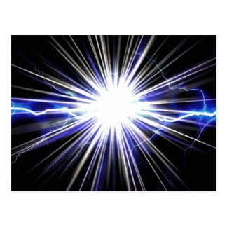 Electrical Lightning Star Burst Postcard