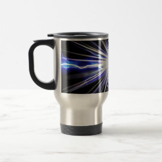 Electrical Lightning Star Burst Travel Mug