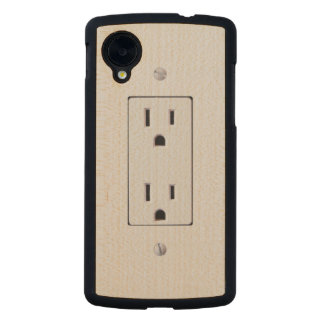 Electrical Outlet #2 Carved® Maple Nexus 5 Case