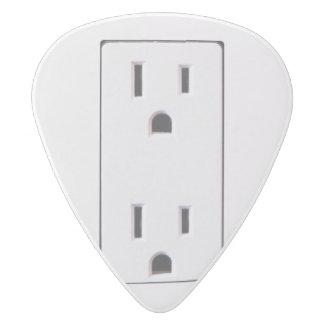 Electrical Outlet #2 White Delrin Guitar Pick
