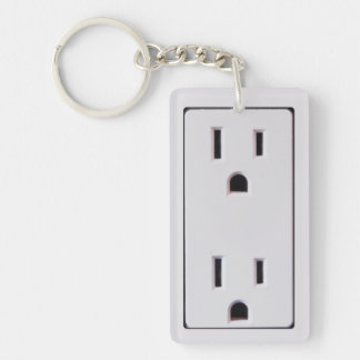 Electrical Outlet #2 Keychain