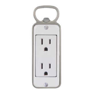 Electrical Outlet #2 Magnetic Bottle Opener