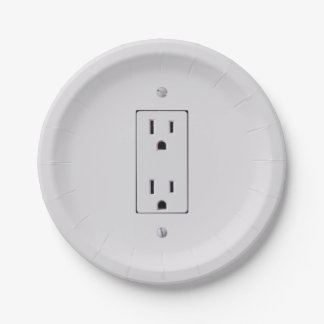 Electrical Outlet #2 Paper Plate