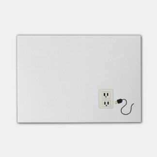 Electrical Outlet and Cord Post-it Notes