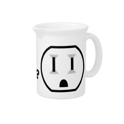 Electrical Outlet (Liquid? Where?!) Drink Pitchers