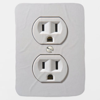 Electrical Outlet Plug in Baby Blanket
