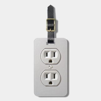 Electrical Outlet Plug in Bag Tag